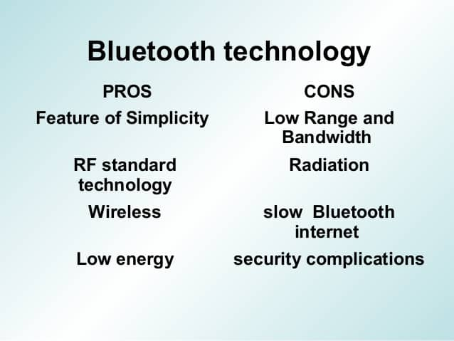 bluetooth pros and cons
