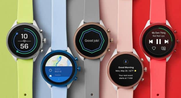 fossil smartwatch with microphone and speaker