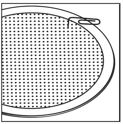 paperclip to remove speaker grill