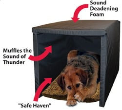 soundproof dog crate thunder