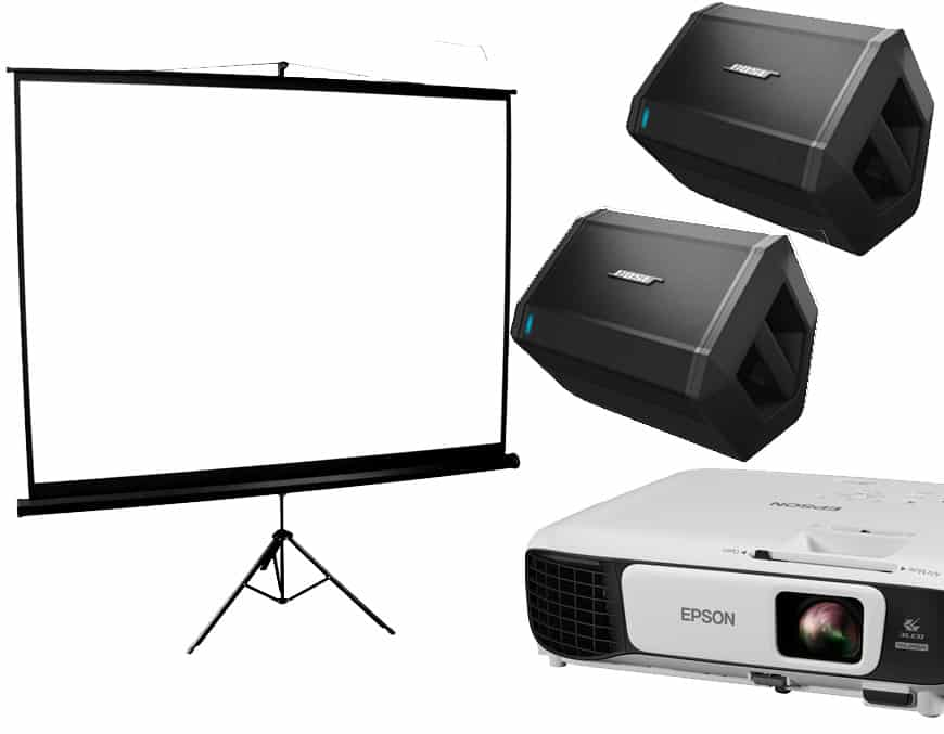wireless speakers to be used with projectors