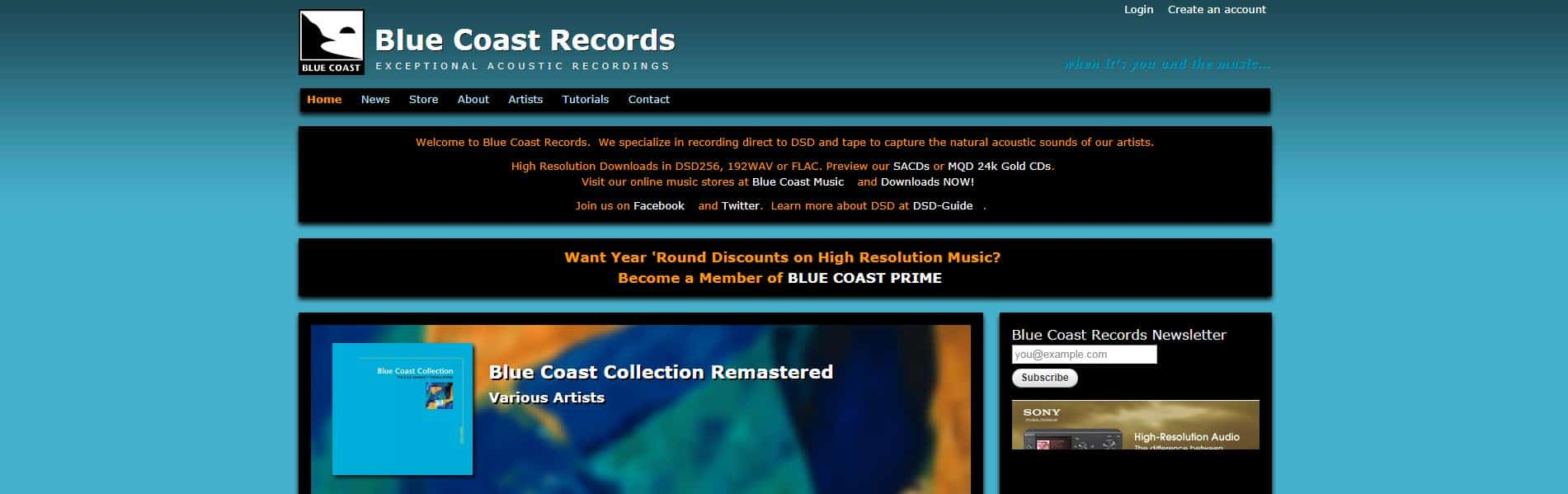 Blue Coast Records hi res music