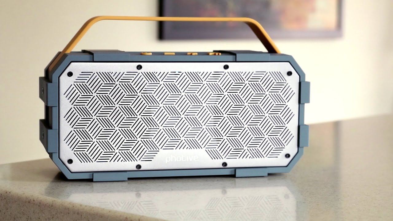 photive m90 durable boombox