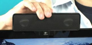 monitor clip on speakers