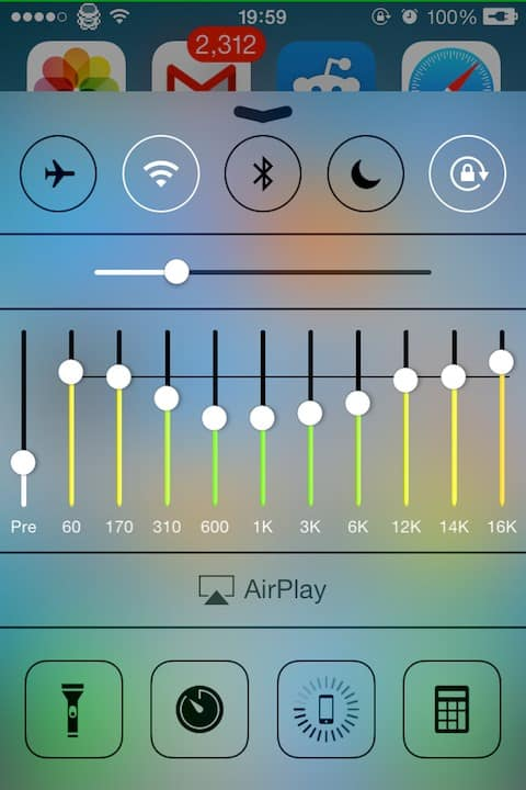 Change High EQ for Music iphone
