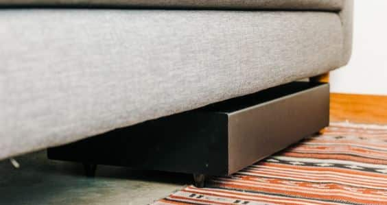 Best Placement for Your Subwoofer under your couch