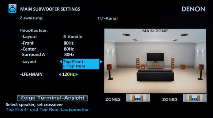 lfe+main subwoofer settings and when to use them