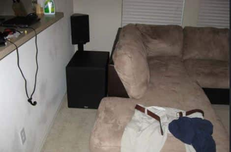 put your subwoofer behind your couch