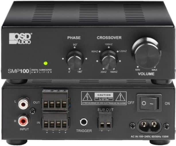 subwoofer crossover and phase settings
