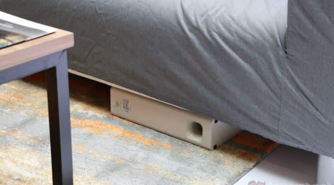 subwoofer under couch