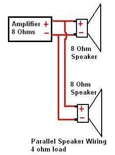 Connecting Two 8 Ohm Speakers In Parallel