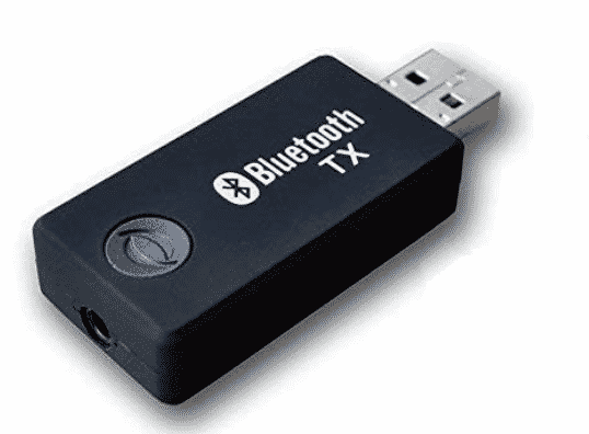 Connected The Bluetooth Transmitter To Receiver Using USB Bluetooth