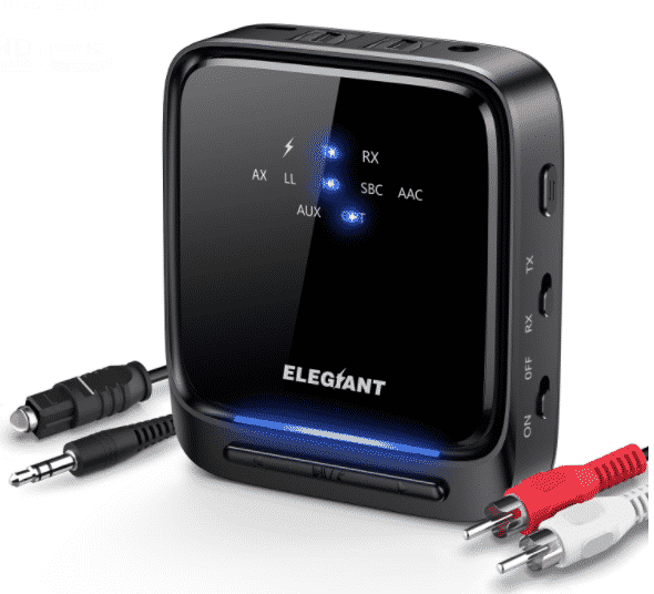 Connected The Bluetooth Transmitter Using RCA Cables