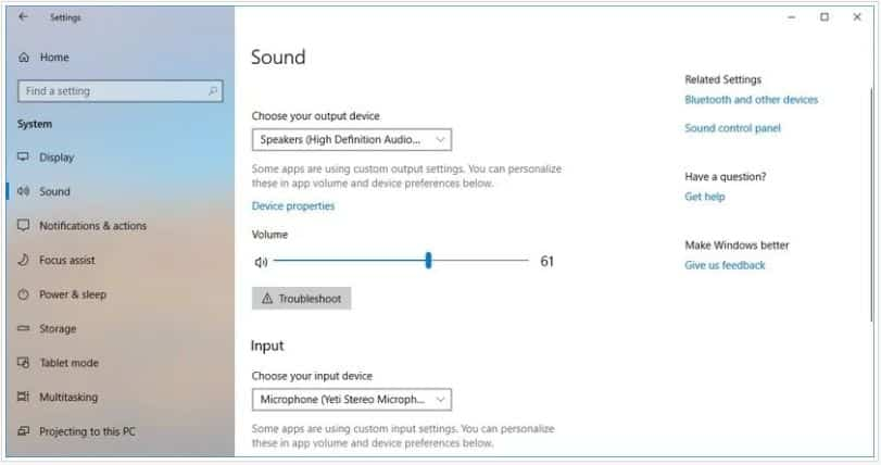 Adjust Windows Audio Settings