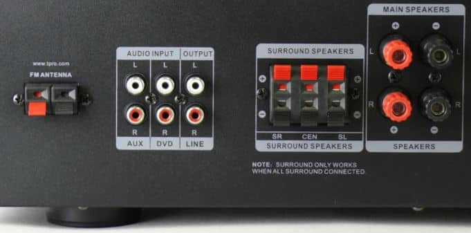 Speaker High-Level Outputs to connect receiver to amplifier without preout