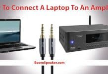 how to connect a laptop to an amplifier and speakers