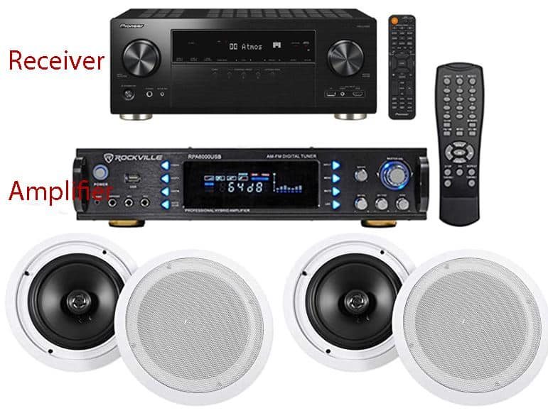 receiver amplifier and ceiling speakers
