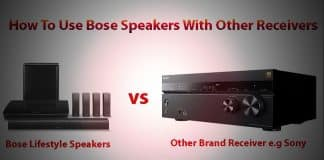 How To Use Bose Speakers With Other Receivers