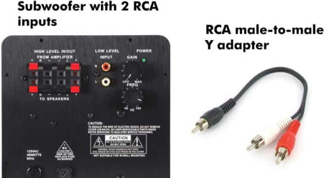 Connect A Receiver With A Single Subwoofer Output To A Subwoofer With Left And Right Inputs