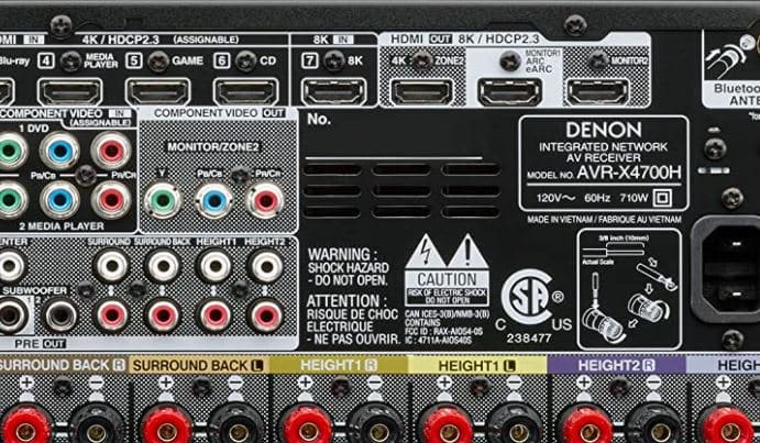 Receiver With 2 HDMI Output