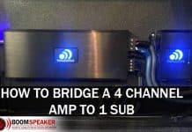 How To Bridge A 4 Channel Amp To 1 Sub