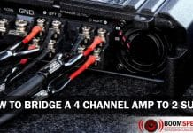 How To Bridge A 4 Channel Amp To 2 Subs