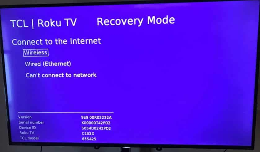 How Do I Get My TCL TV Out Of Recovery Mode