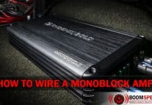 How to wire a monoblock amplifier