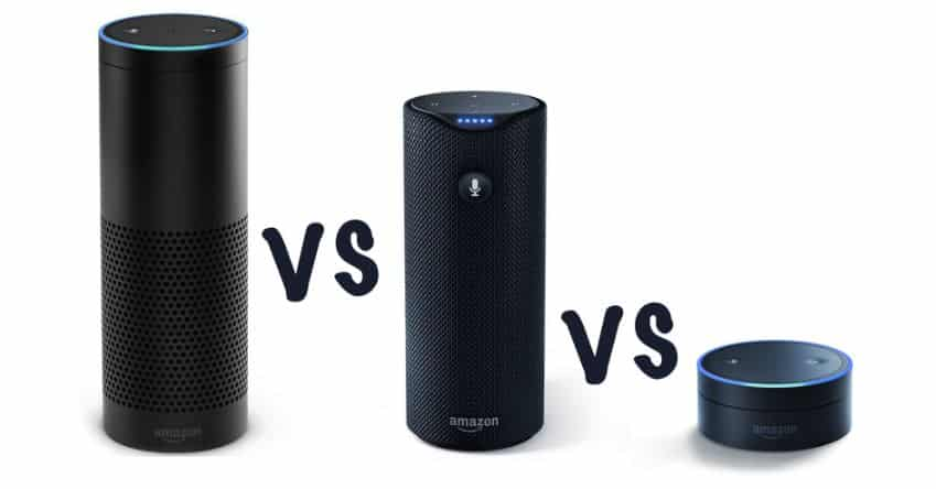 Echo vs Tap vs Dot