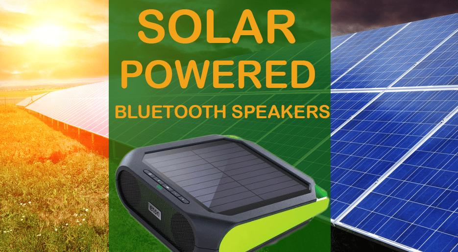 solar powered bluetooth speakers