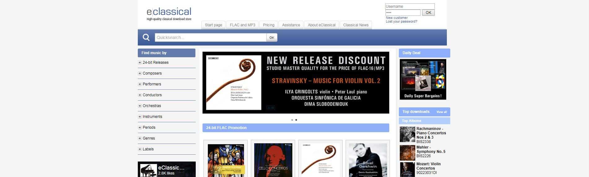 EClassical hi def music site