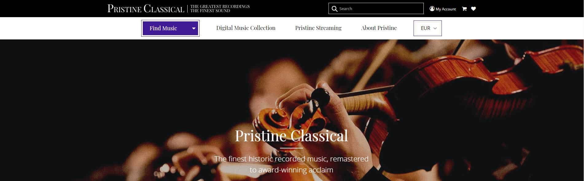pristine clasical website