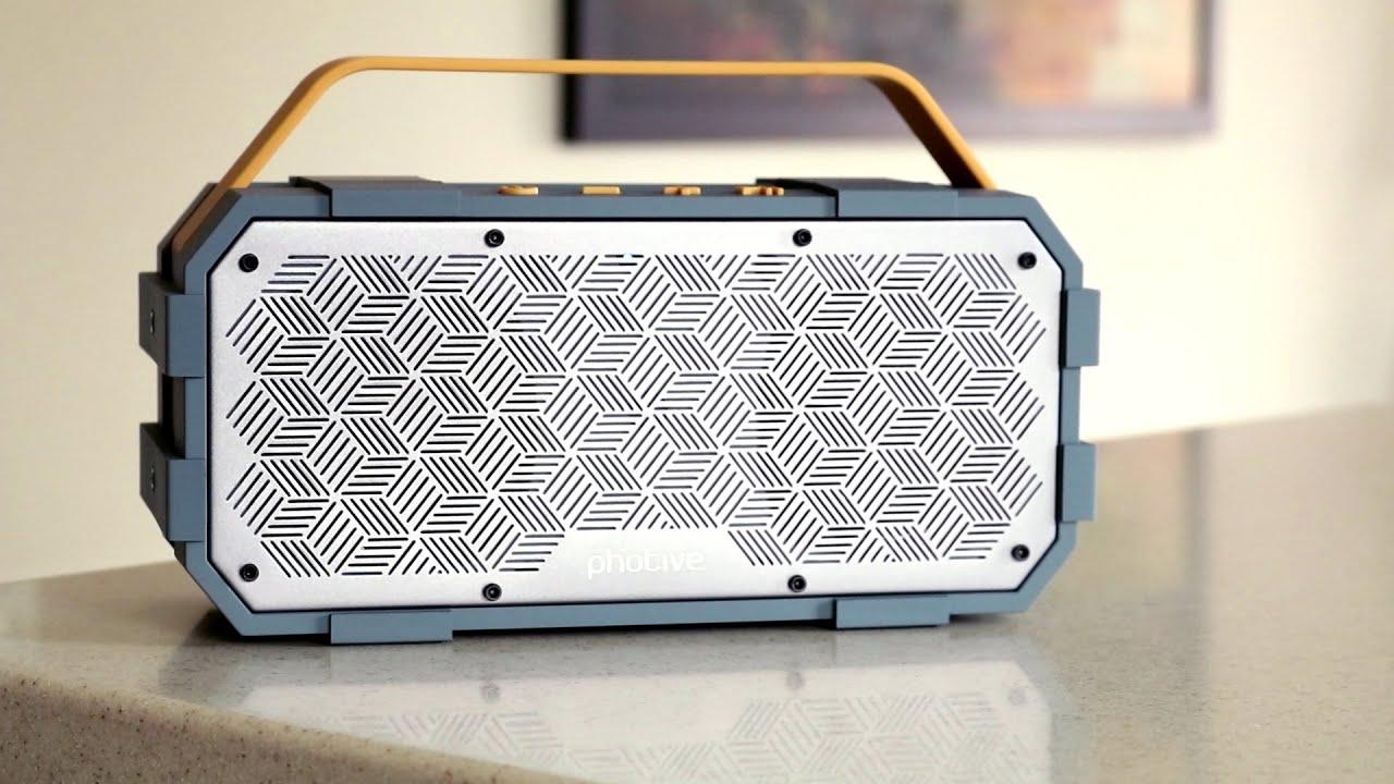 photive m90 durable boombox