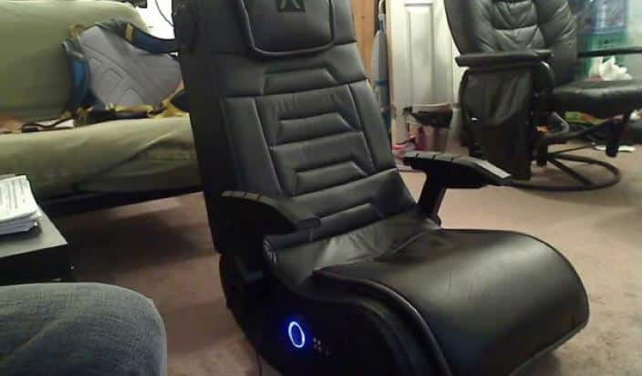 X Rocker Pro Series H3 gaming chair with speaker