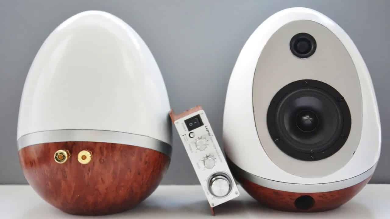 egg shaped speakers