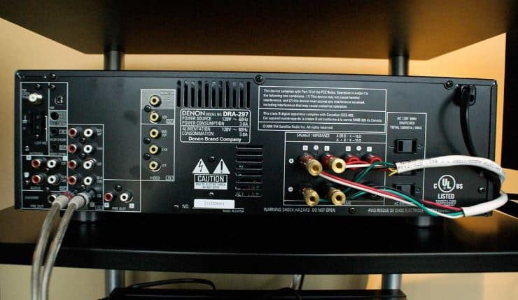Wire subwoofer to receiver