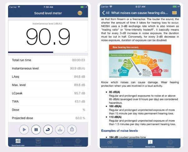 NIOSH Sound Level Meter App