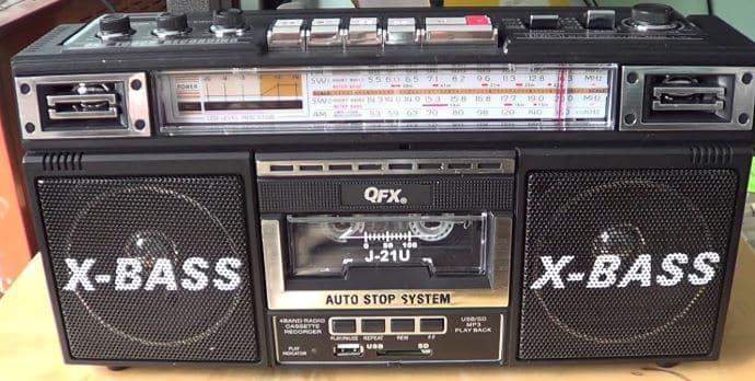 Quantum FX J22UBK cassette boombox