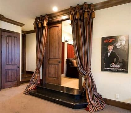 home theater door soundproof curtain