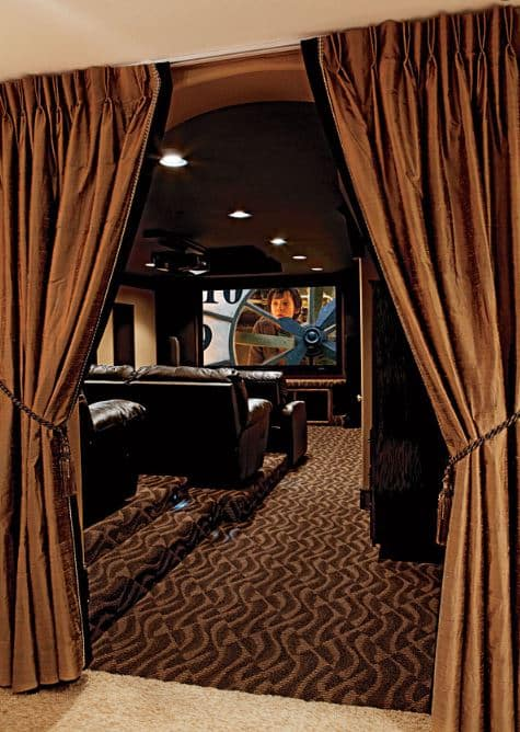 soundproof curtain for home theater door